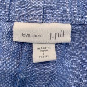 J. Jill Pants - J. JILL Love Linen Washable blue pants L Large